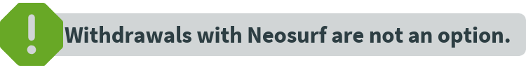 Note on Neosurf withdrawals