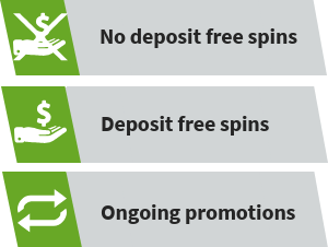 types of free spins