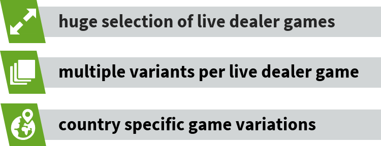 Evolution live dealer games