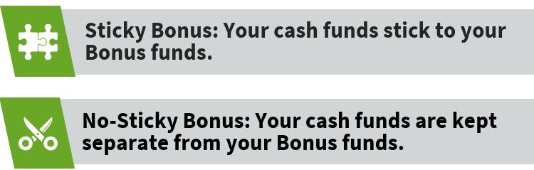 Sticky Bonus and No-Sticky Bonus