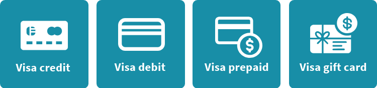 Types of visa cards