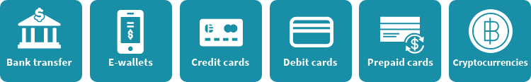 Online casino payment types