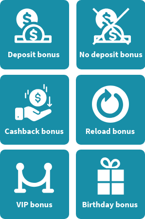 Types of casino bonuses