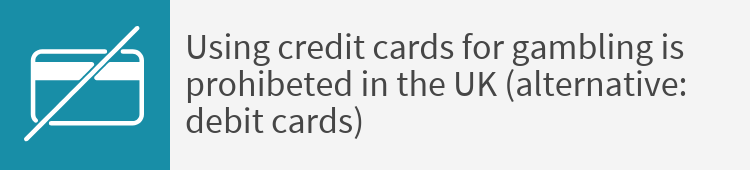 Credit cards for gambling prohibted in the UK